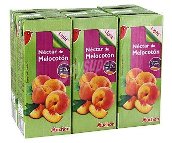 Auchan Néctar de melocotón, pack de 6 unidades de 20 centilitros 6x20cl