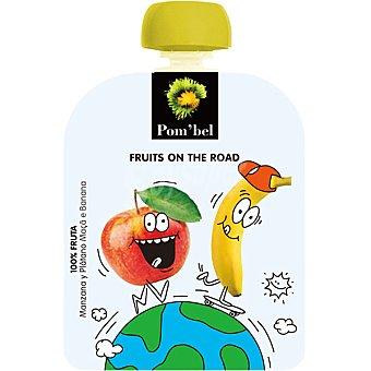 POM'BEL Manzana y plátano 100% fruta lista para beber Envase 90 g