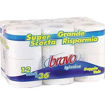 Bravo Papel higiénico doble capa Paquete 12 rollos