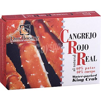 DON BOCARTE Cangrejo rojo real al natural  Lata de 90 g neto escurrido