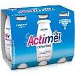 Yogur líquido Lcasei sabor natural 6 x 100 g Actimel Danone