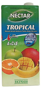 Hacendado Nectar tropical sin azucar Brick 1 l