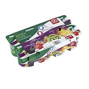 DIA Bífidus de ciruela, fresa, kiwi y piña 0% M.G pack 8 unidades 125 gr Pack 8 unidades 125 gr
