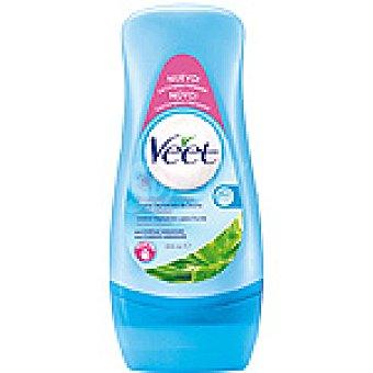Veet Crema de ducha depilatoria aloe vera y vitamina E para piel sensible Tubo 300 ml