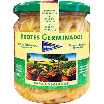 Hipercor Brotes germinados para ensalada Frasco 170 g neto escurrido