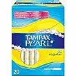 Tampón Pearl regular Caja 20 unid Tampax