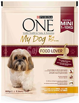 One Purina Purina ONE My Dog is... Perro Mini Food Lover Pavo y Arroz 800 g