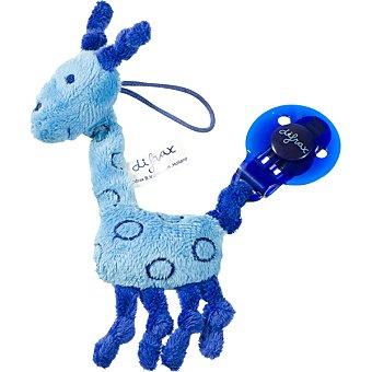 DIFRAX Cadena para chupete jirafa azul 1 Unidad