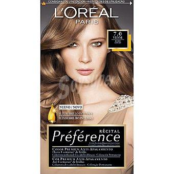 Preference L'Oréal Paris Tinte rubio nº 7.0 Vienne con elixir brillo intenso coloración permanente Caja 1 unidad