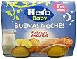 TARRITO POLLO CON VERDURITAS NOCHES A PARTIR 6 MESES PACK 2 u x 190 g - 380 g Hero Baby