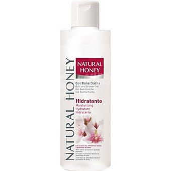 NATURAL HONEY gel de baño Hidratante con aceites de almendras dulces y proteínas de seda  bote 400 ml