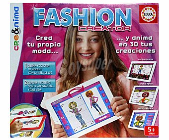EDUCA Juego de Diseño de Moda cre&nima Fashion Creator 1 Unidad