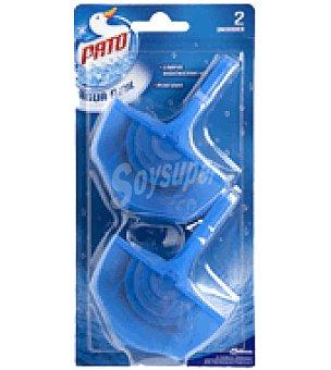 Pato Desodorizante WC líquido Agua Azul Pack de 2 colgadores + recambio.