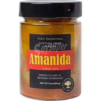 Amanida Aceituna verde aliñada frasco 160 g neto escurrido frasco 160 g neto escurrido