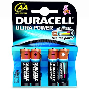 Duracell LR6 AA pilas alcalinas Ultra Power blister 4 uniddes 4 unid