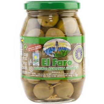 El Faro Aceitunas sabor manzanilla con hueso eco Frasco 200 g