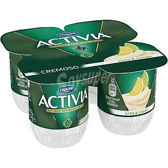Activia Danone Yogur Activia Cremoso Lima-Limón 4 unidades de 120 g