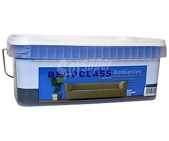 DECOCLASS Pintura Acrílica Decorativa Color Azul Eléctrico, Ambientes 2,5 Litros