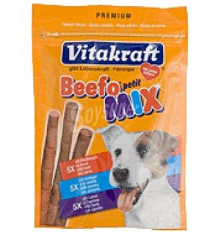 Snack Beefo Petit Mix palitos para perros Paquete de 15 uds