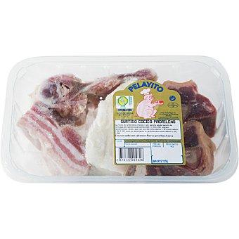 PELAYITO Surtido para cocido con panceta, tocino y espinazo peso aproximado Bandeja 600 g
