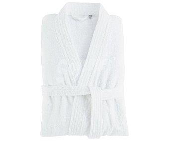Productos Económicos Alcampo Albornoz adulto talla l-xl 100% algodón color blanco, 300g/m² alcampo