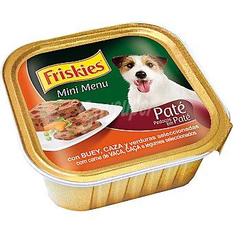FRISKIES MINI MENU Para perro paté de buey y caza con verduras tarrina 150 g Tarrina 150 g
