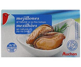 Auchan Mejillones pequeños al natural Lata de 111 gramos