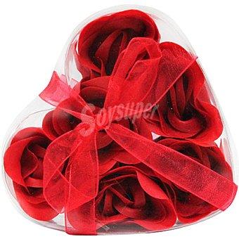 Myhome Ambientador con 6 rosas de jabón rojas estuche 1 unidad