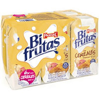 Bifrutas Pascual Zumo y leche con cereal Pack 6x200 ml