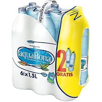 AQUABONA agua mineral natural + 2 botellas gratis pack 4 botellas 1,5 l