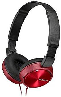 SONY MDRZX310R Auriculares tipo Casco Rojo DJ, con cable 1,2 Metros