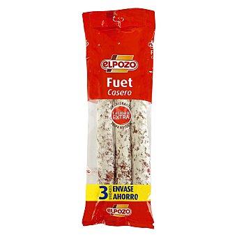 ElPozo Fuet Pack de 3x170 g