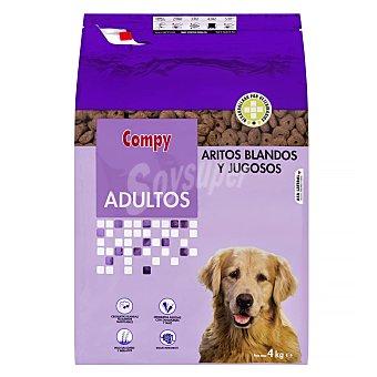 Compy Comida perro seca aritos blandos adulto razas medianas y grandes Paquete 4 kg