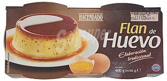 HACENDADO Flan de huevo PACK 4 x 100 g - 400 g