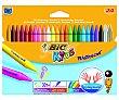 Caja de 24 extra-resistentes y que no manchan las manos, de diferentes colores BIC kids kids  Pinturas