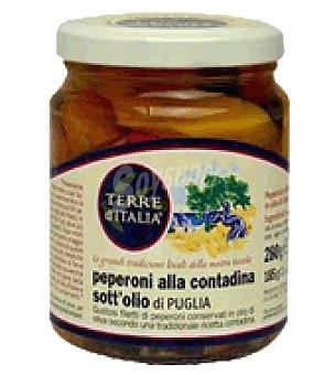 Terre ditalia Peperoni alla contadina pimientos en conserva 280 g