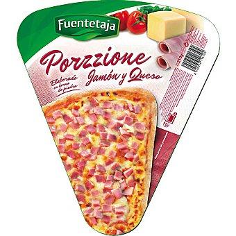 Fuentetaja Pizza jamón y queso porción 210 g
