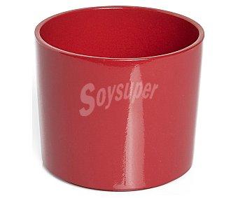 VAN Maceta cerámica modelo Viber Meem, lisa y de color rojo 1 Unidad