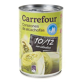 Carrefour Corazones de alcachofas 10/12 piezas Lata 240 g (peso escurrido)