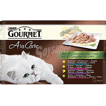 Gourmet Purina Las 4 estaciones del chef para gato A la carte 4 unidades