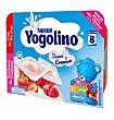 Postre suave y cremoso fresa frambuesa 6 unidades Yogolino Nestlé