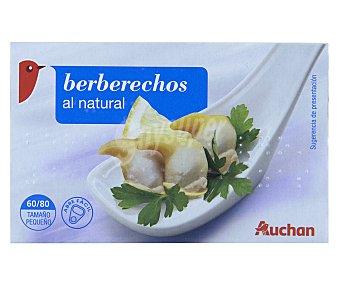 Auchan Berberechos al natural (60/80 piezas tamaño pequeño) 63 gramos peso escurrido