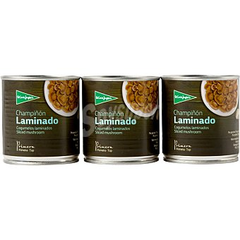 Aliada Champiñón laminado neto escurrido Pack 3 latas 105 g