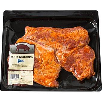 Hipercor Secretos adobados de cerdo ibérico peso aproximado Bandeja 600 g