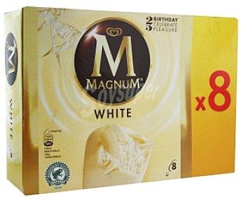 Frigo Magnum Bombón helado de vainilla con chocolate blanco 8 Unidades de 110 Mililitros