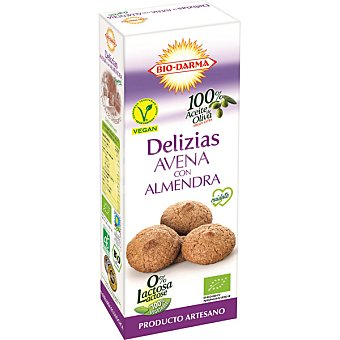 BIO-DARMA Delizias de avena con almendra y aceite de oliva virgen extra Paquete 100 g