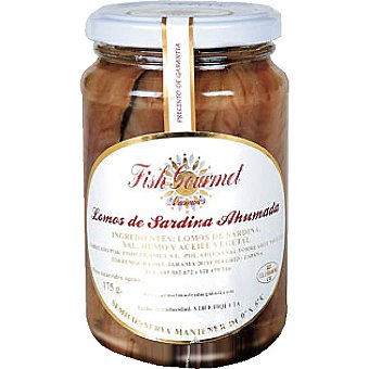 Fish Gourmet Lomo de sardinas ahumadas con aceite vegetal tarro 175 g tarro 175 g