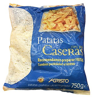 Agristo Patatas congeladas corte tradicional grueso con piel (freir u hornear) Paquete de 750 g