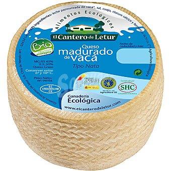 El Cantero de Letur Queso madurado vaca ecológico tipo nata  450 g (peso aproximado pieza)