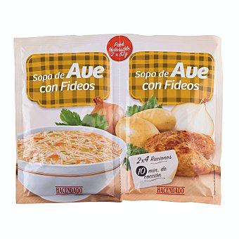 Hacendado Sopa deshidratada Ave Fideos 2 x 82 g